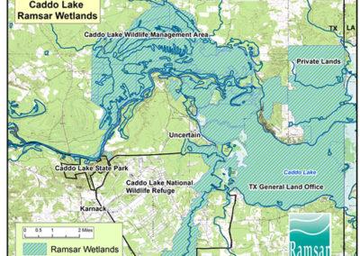 Area of Caddo Lake Ramsar Wetlands